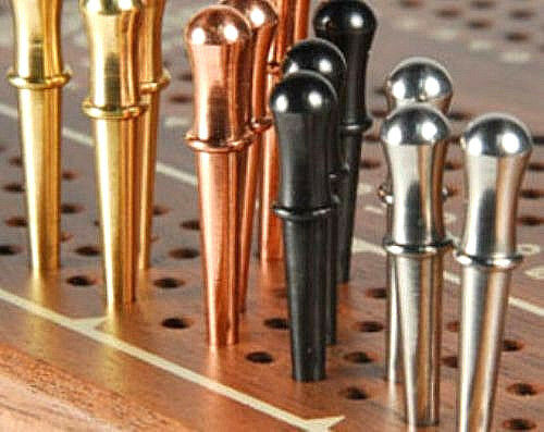 Copper /& Black Silver 12 SOLID METAL QUALITY CRIBBAGE PEGS 3 Ea Gold