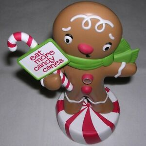 Hallmark-2011-Wisecrackin-039-Gingerbread-Boy-Motion-Activated-Christmas-Candy-Cane