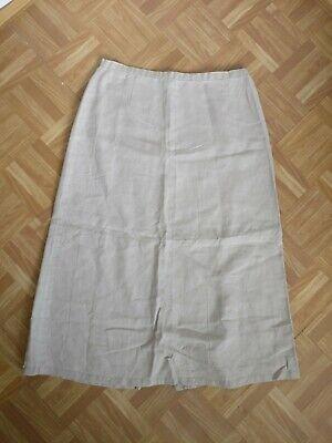 """Billiger Preis Maxi Skirt Linen Oatmeal Beige Uk 16 Eur 44 Waist 32"""" Long A-line 34"""" Verkaufsrabatt 50-70%"""