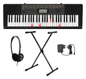 Casio-LK-265CA-61-Leuchttasten-Keyboard-Set-Staender-Kopfhoerer-Dance-Music-Mode