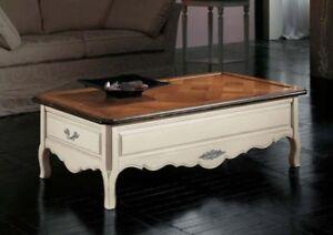 Tavolino Salotto Ciliegio.Dettagli Su Tavolino Da Salotto In Ciliegio Massello Piano Parquet Laccato Noce 2 Misure 081