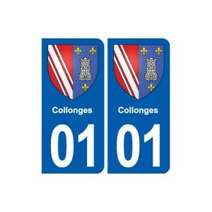 01 Collonges blason ville autocollant plaque sticker 2qy2Vm3V-07140304-129331748