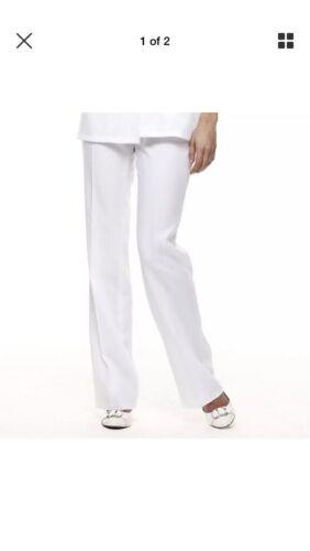 Hairdressing Dentist Smart Trousers Size 12 White Salon Medical