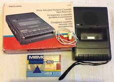 Realistic CTR-67 Voice-Actuated Portable Cassette Tape Recorder | With New Tape