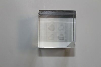 crystal cube laser engraved big heart