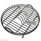 Trendy Delfinware Black Plastic Coated Circular Round Dish Drainer 2001BK
