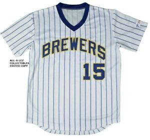 outlet store 9e1ab da38c Details about 2019 MILWAUKEE BREWERS CECIL COOPER #15 PINSTRIPE SGA REPLICA  JERSEY ~ PICK SIZE