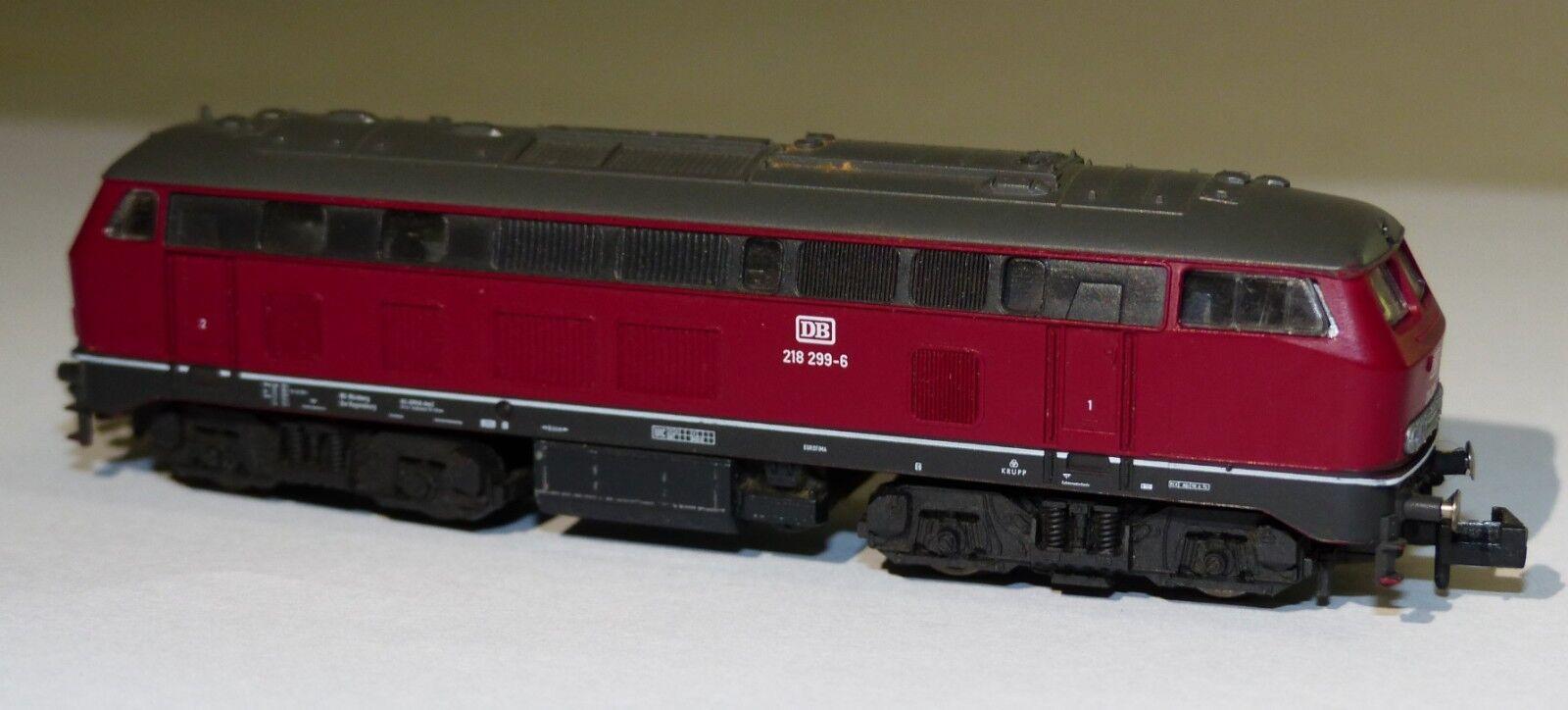 Fleischmann diesellok br 218 299-6 DB pista n Lok locomotora diesel