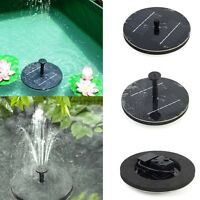 Floating Solar Light Water Fountain Lake Garden Stake Decoration Black Usa Sell