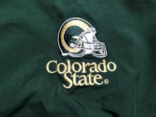 NEW COLORADO STATE UNIVERSITY RAMS TRACK JACKET MENS SMALL RUSSELL GREEN NCAA