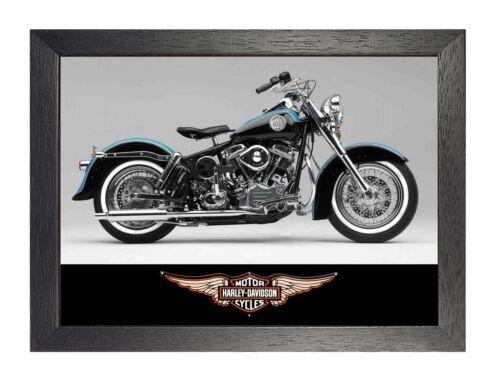 Harley Davidson 2 Foto Motorrad Bild Amerikanische HD Route 66 Fahrrad Poster