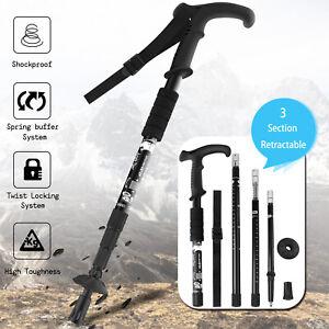 Travel Adjustable Anti-Shock Hiking Walking Stick Trekking Pole Alpenstocks ONE