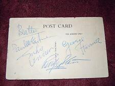 The Beatles Authentic Autographs/ Signed 2/05/64 BEA Paris Flight To Heathrow!!!