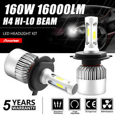 CREE COB H4 HB2 9003 160W 16000LM LED Headlight Kit Hi/Lo Beam Power Bulbs 6500K