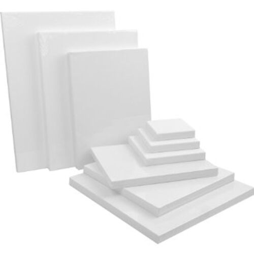"""Blank Canvas 60x60cm Thin Stretched Plain Artists Canvas,Wall Art Paint 24x24/"""""""