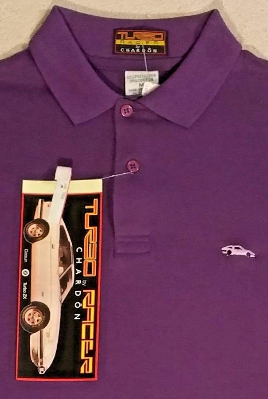 Mens Vintage Brand New Polo Shirt Datsun 280ZX Nissan Z Turbo Racer Chardon M