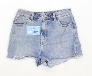 Womens-Asos-Blue-Denim-Shorts-Size-10-L2