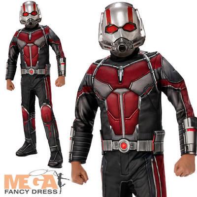 ANT-Man Deluxe Ragazzi Costume Supereroe Fumetto Giorno Per Bambini Costume