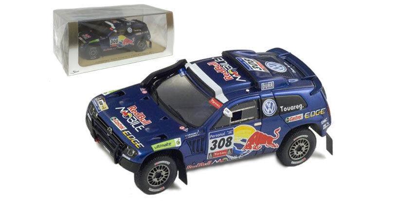 la mejor selección de Spark Spark Spark S0824 Volkswagen Touareg 3  308 2nd Dakar 2011-G de Villiers escala 1 43  wholesape barato