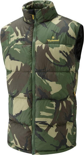 Wychbois voiturep Fishing Puffer Gilet Camo Bodywarmer - All Tailles