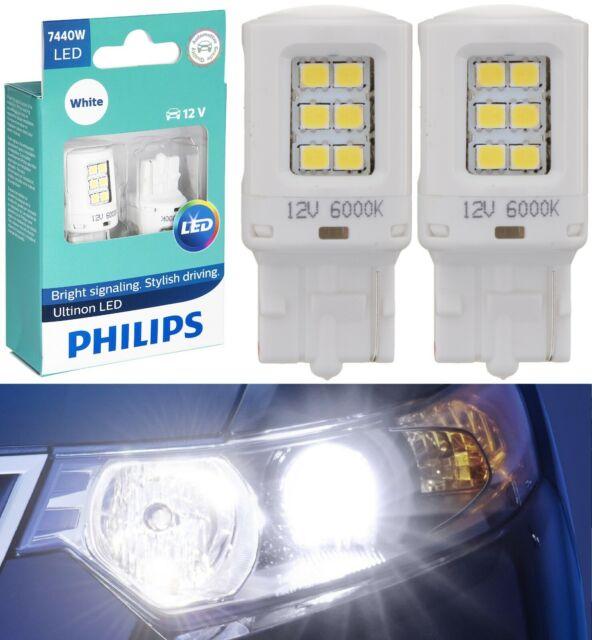 Philips Ultinon LED Light 7440 White 6000K Two Bulbs Stop Brake Tail Upgrade EO