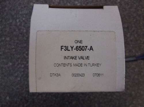 Genuine Ford Intake Valve F3LY-6507-A OEM inlet Ford Lincoln Mercury