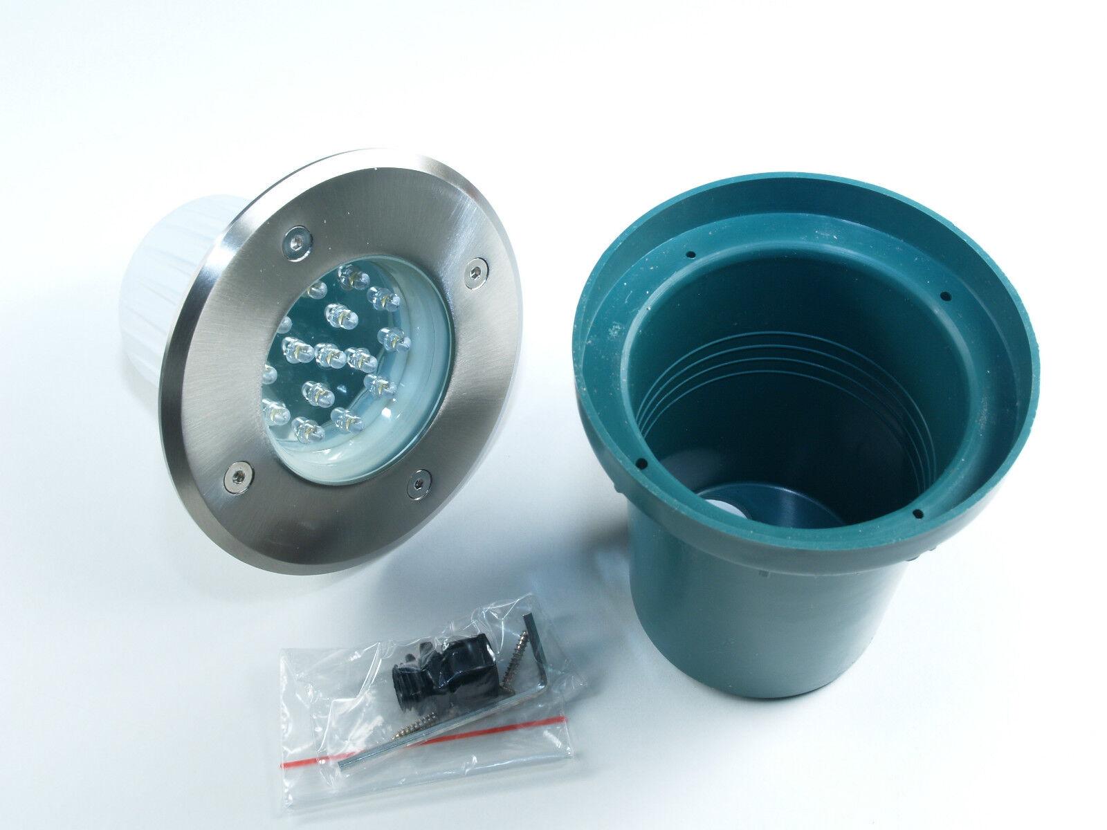 Hochwertige LED Aussenleuchte Bodenstrahler wasserfest Aussen Bodenlampe 230V