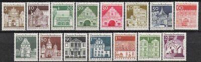 Deutschland Ab 1945 Postfrisch Geschickte Herstellung UnermüDlich Bund Nr.489/03 ** Freimarken Bauten Groß 1966