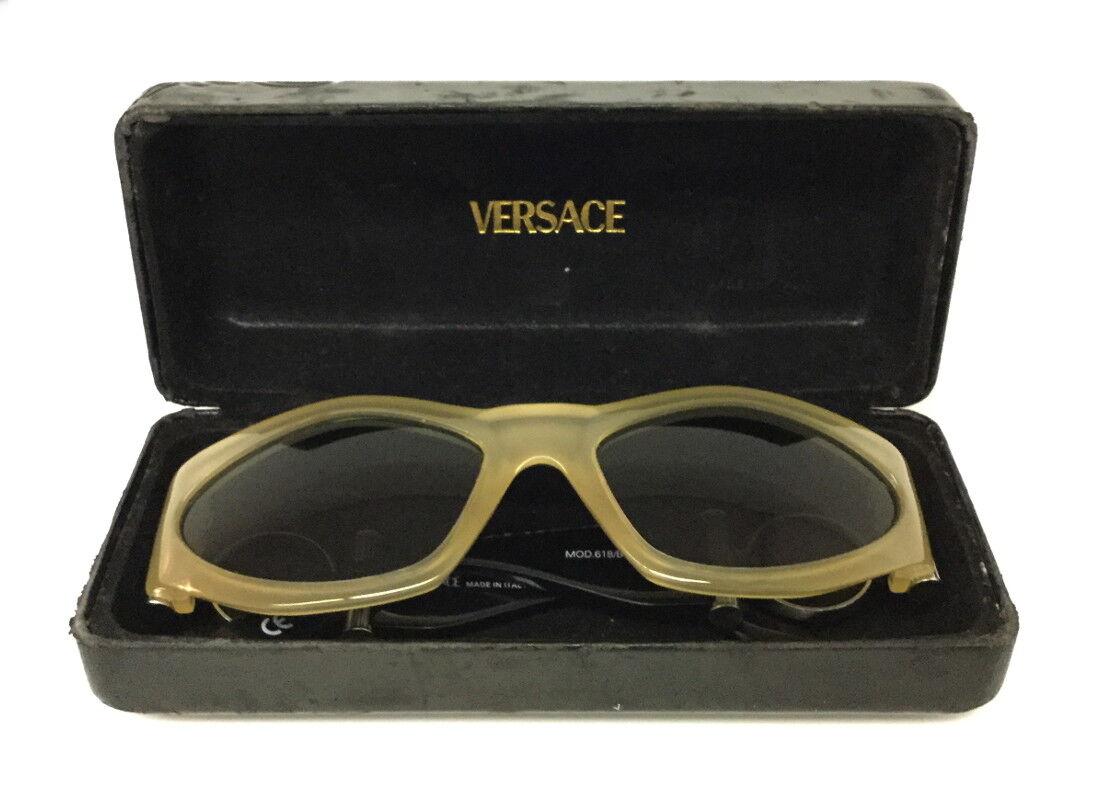 Gianni Versace Vintage 618/b Black & Clear Sungla… - image 6