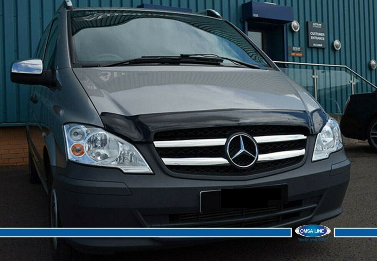 Stainless Steel Mercedes Vito W639 2010-2014 Chrome Front Grill 4 Pcs