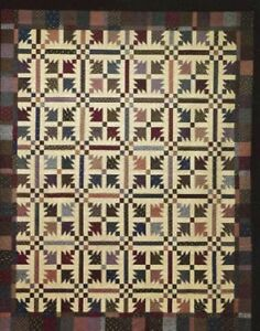 New Traditional Quilt Pattern Rotary Cut Machine Pieced 86x101