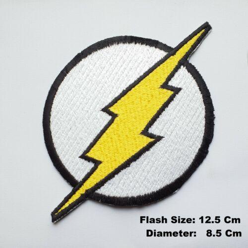 à Coudre Patch Veste Flash Logo Lightning Noir Boulon Thunder Bd Repasser