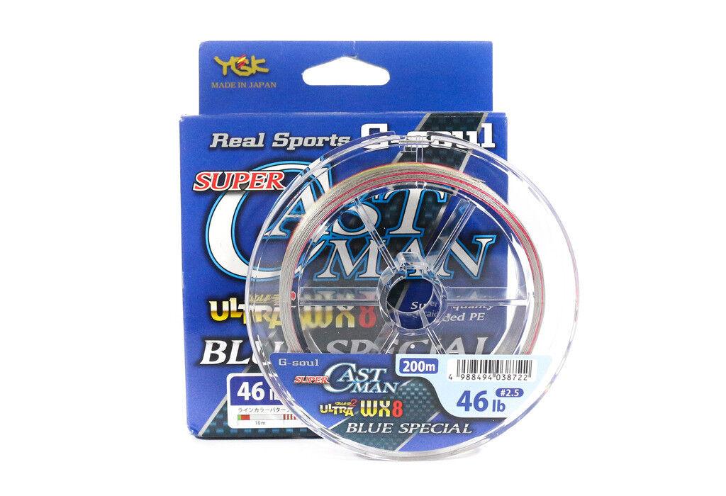 YGK P.E Line Super Castman WX8 bluee Special 200m P.E 2.5 (8722)