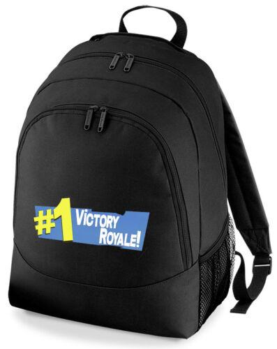 Victory 1 Royale Gaming Backpack Rucksack School Bag