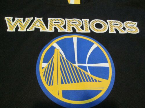 NEW GOLDEN STATE WARRIORS WARM UP HOODIE S//S SHIRT  MD BLK//BLUE//YLW FREE SHIP