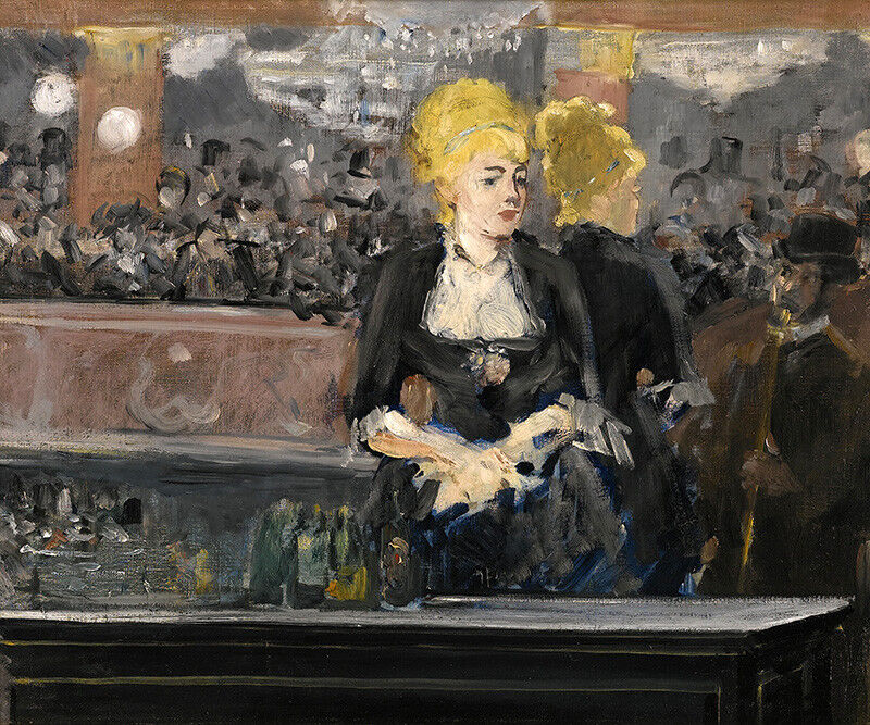 STUDY FOR BAR AT THE FOLIES BERGERE FRENCH PAINTING BY EDOUARD MANET REPRO