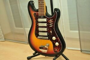 Teisco-Kawai-hertiecaster-VINTAGE-1960s-4-PICKUP-STRATOCASTER-Guitar-Giappone-G