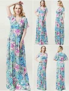 maternity evening dress baby shower wedding bridal maxi plus size