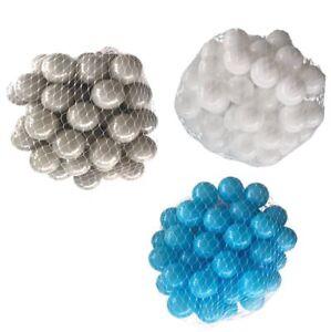 150-9000 Piscine De Balles 55mm Mélange Turquoise Blanc Gris Assortiment