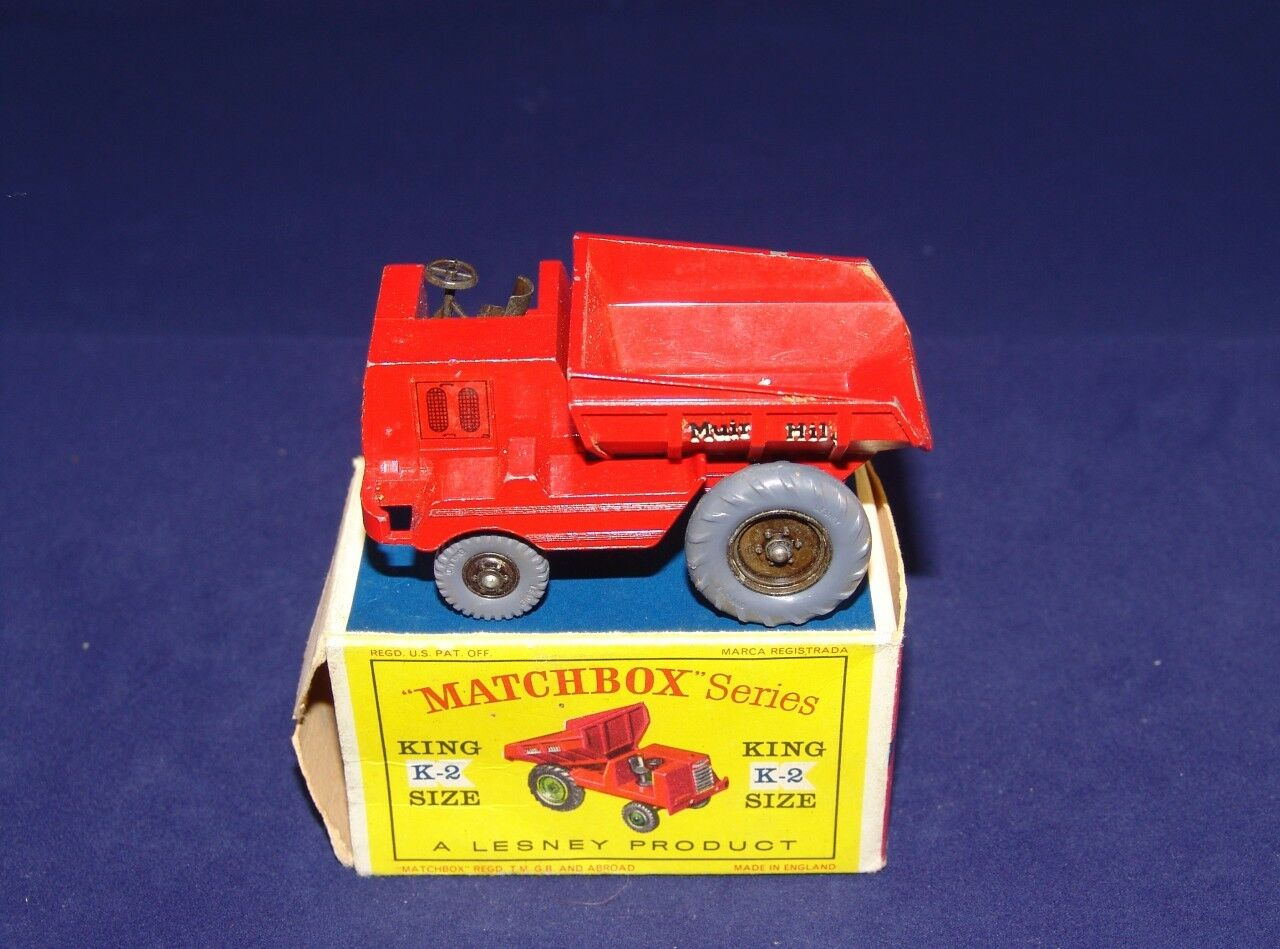 BOXED MATCHBOX KING Größe No. K2-1 ' MUIR HILL' DUMPER TRUCK