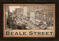 1950's Beale Street, Home of the Blues, Memphis, Tennessee, Old Cars - Postcard