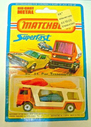 Matchbox Superfast Nr. 11C Car Transporter neu in Box dunkelblaues Auto  |  Neuer Markt