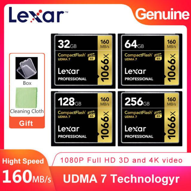 lexar udma7 1066x 32gb 64gb 128gb 256gb cf compact flash