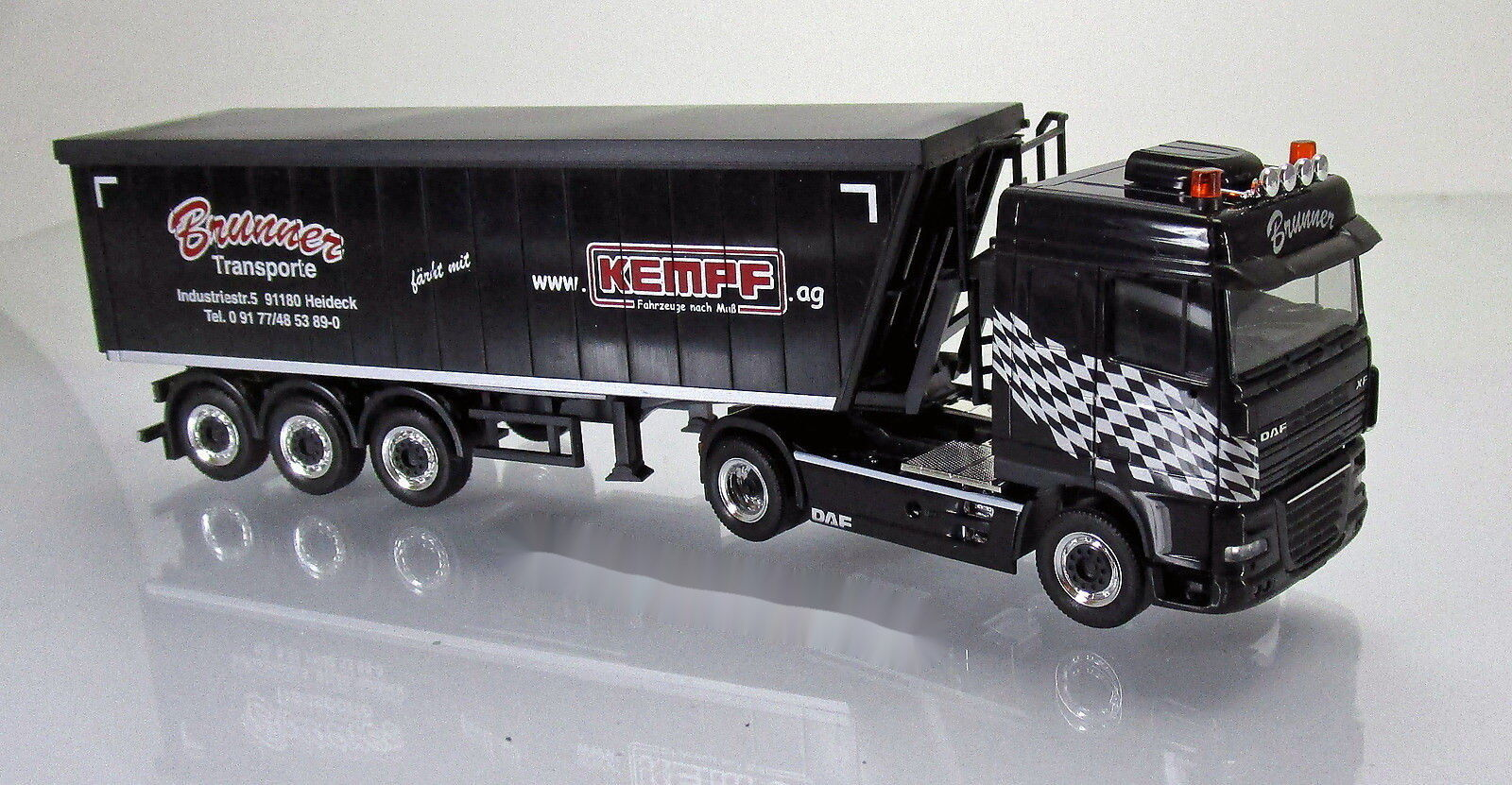 Herpa 304825 DAF 105 XF SC Stöffelliner Sattelzug LKW Brunner Scale 1 87 NEU OVP