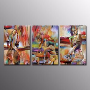 Details About Canvas Print Abstract Human Body Art Beauty Naked Painting Art Picture Home 3pcs