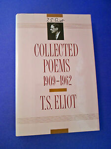 Details About The Collected Poems Ts Eliot 1909 1962 The Waste Lands Hcdj