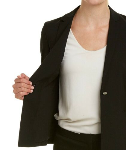 Kati Wool Elie Back Tahari Stretch Detaljer 190553254835 Jacket Sz10 På Grommet Nwt Black tpq11