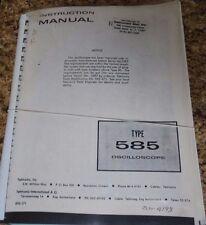 Tek 585 parts list and Schematics Diagram plus 585 Intruction Manual