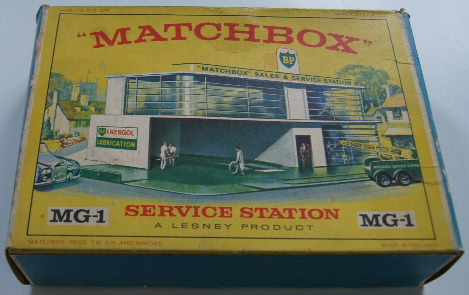 Matchbox garage service station bp mg1 annees 60 new in box