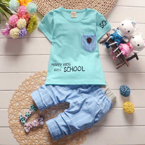 short pants kids boys summer outfits baby boys clothes cotton summer Top tee